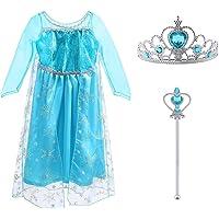 Vicloon - Disfraz de Princesa Elsa/Capa Disfraces/Belle Vestido