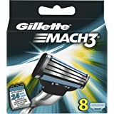 Gillette - Gillette Mach3 - Hojas de afeitar con 3 palas - 8 unidades