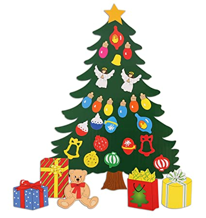 christmas decoration animated tree magnet set perfect for winter decorations fridge metal - Metal Christmas Decorations