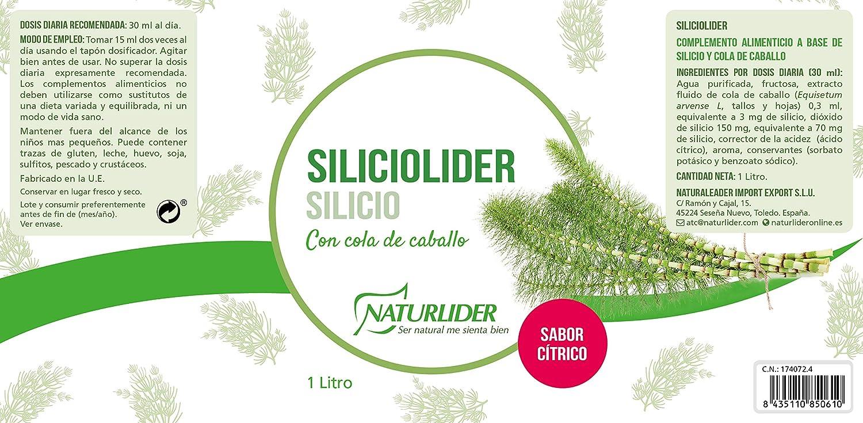 Naturlíder Siliciolíder Suplementos para Sistema Osteoarticular - 1 L: Amazon.es: Salud y cuidado personal