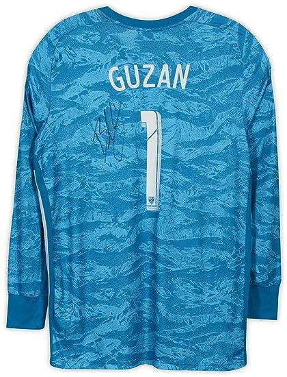 sale retailer bea10 68eba Brad Guzan Atlanta United FC Autographed Event-Worn #1 Blue ...