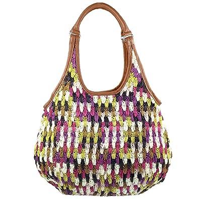 f4862a47c Amoyie Vintage PU Leather Tote Bag Brown Women's Shoulder Bag Top Handle  Bag for Work Shopper Travel