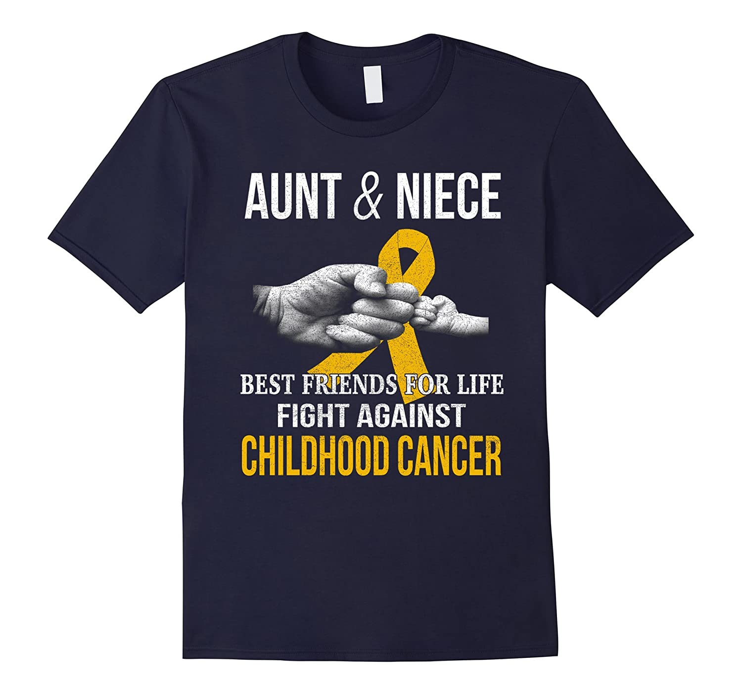 aunt & niece fight against childhood cancer t shirt-T-Shirt