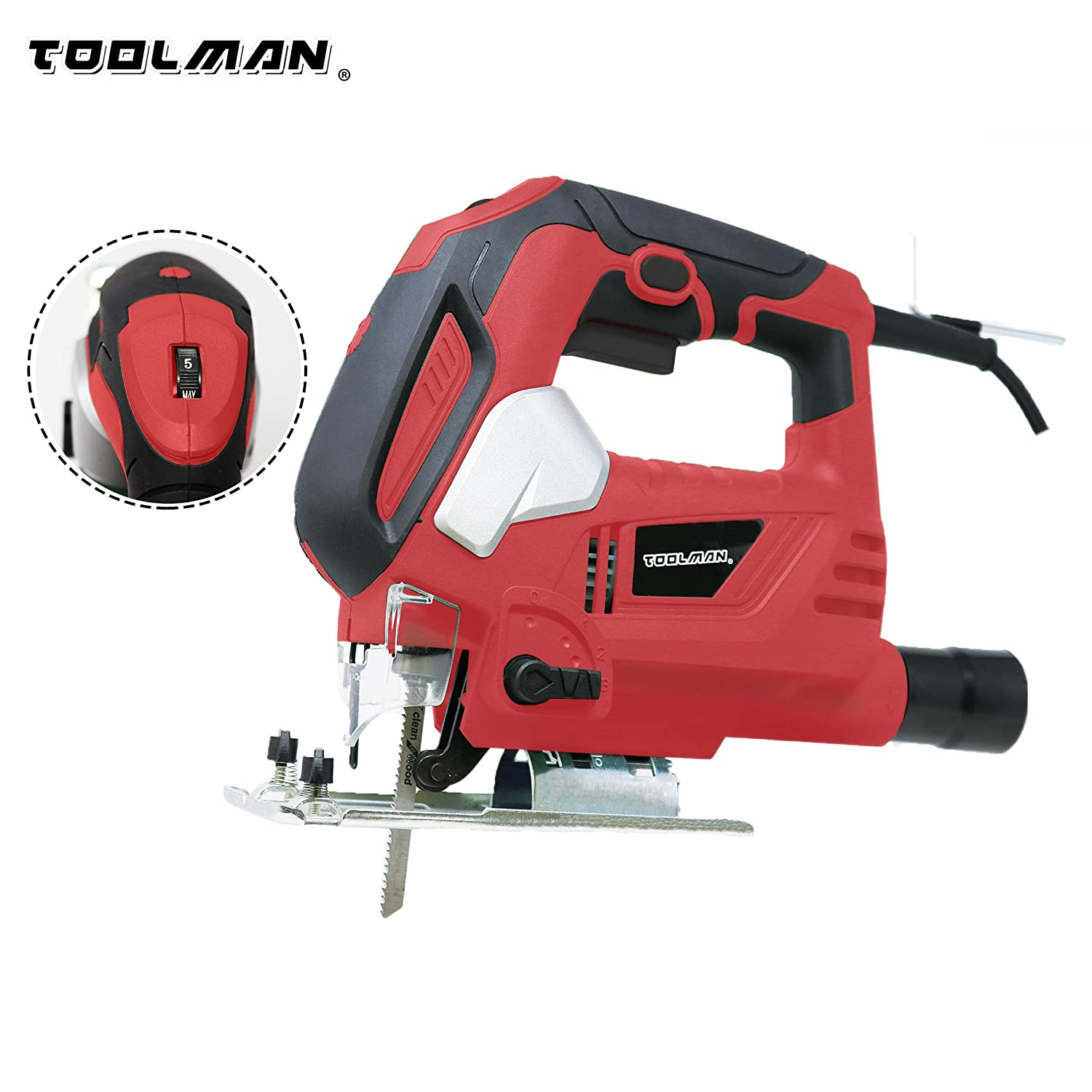 Lion Tools DB6204 Toolman 6.5A Variable Speed Jig Saw works with DeWalt Makita Ryobi Accessories