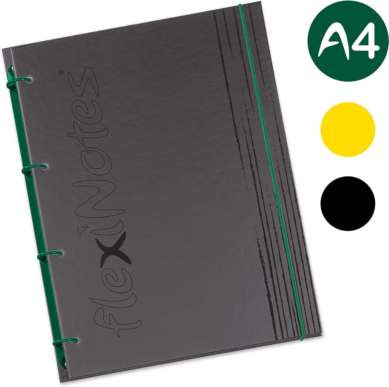 Schaar-Design flexiNotes NOTIZBUCH A4 flexibel Ringbuch vereint f/ür Notizen nachf/üllbar ToDos weinrot fN Black Protokolle Projekte Besprechungen Typ: A4 75 Blatt kariert Collegeblock
