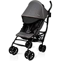 Summer 3Dlite+ Convenience Stroller, Charcoal Herringbone – Lightweight Umbrella Stroller with Oversized Canopy, Extra…