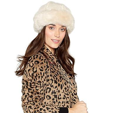 a750ef6eefccfd Rjr.John Rocha Cream Suedette Faux Fur Lined Cossack Hat: RJR.John Rocha:  Amazon.co.uk: Clothing