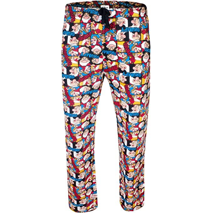 Disney - Pantalón de Pijama - para Hombre Grumpy Collage Print (Multicoloured) XL