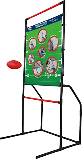 Sport Squad Endzone Challenge - 2-in-1 Football Toss and Flying Disc Toss - Backyard and Lawn Game for Indoor and Outdoor Use