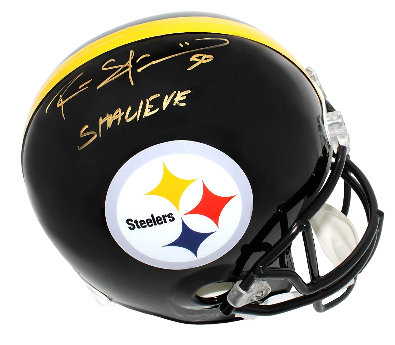 Autographed Ryan Shazier Helmet  Riddell Full Size Replica w Shalieve  Autographed NFL Helmets