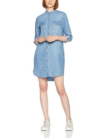 10790499e57621 Vero Moda NOS Women s Vmsilla Ls Short Dress Lt Bl Ga Noos Light Blue Denim