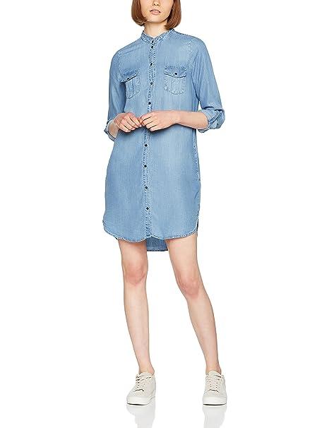 Vero Moda Vmsilla LS Short Dress Lt Bl Ga Noos, Vestido para Mujer: Amazon.es: Ropa y accesorios