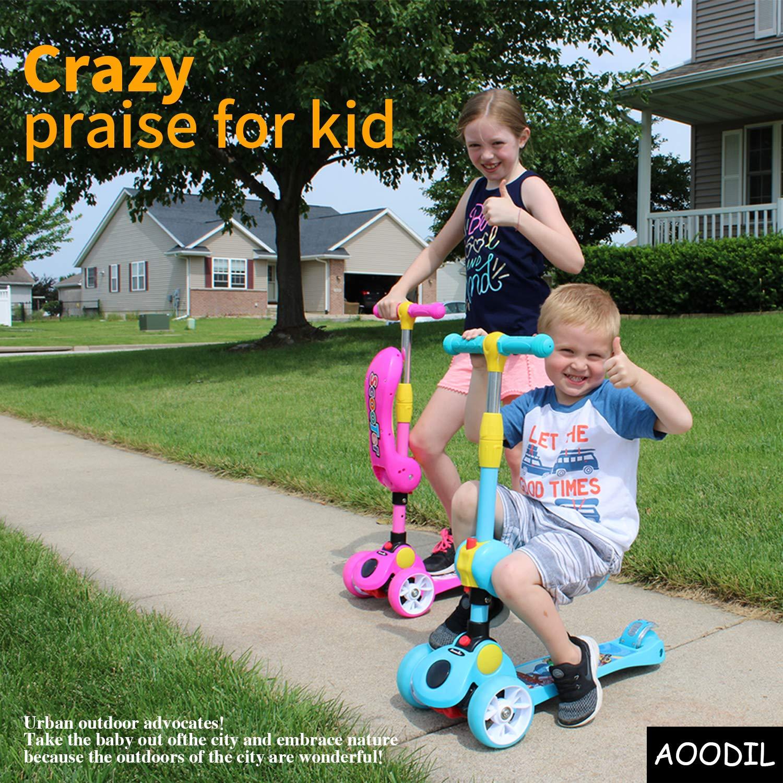 Amazon.com: Patinete 2 en 1 de Aoodil para niños y niñas ...