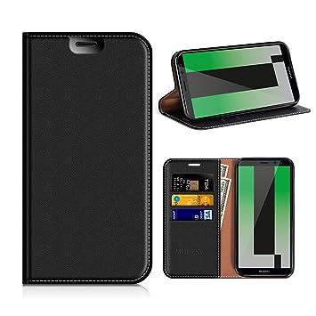 MOBESV Funda Cartera Huawei Mate 10 Lite, Funda Cuero Movil Huawei Mate 10 Lite Carcasa Case con Billetera/Soporte para Huawei Mate 10 Lite - Negro