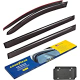 Goodyear Side Window Deflectors for Toyota Sienna 2011-2020, Tape-on Rain Guards, Window Visors for Cars, Vent Deflector, Ven