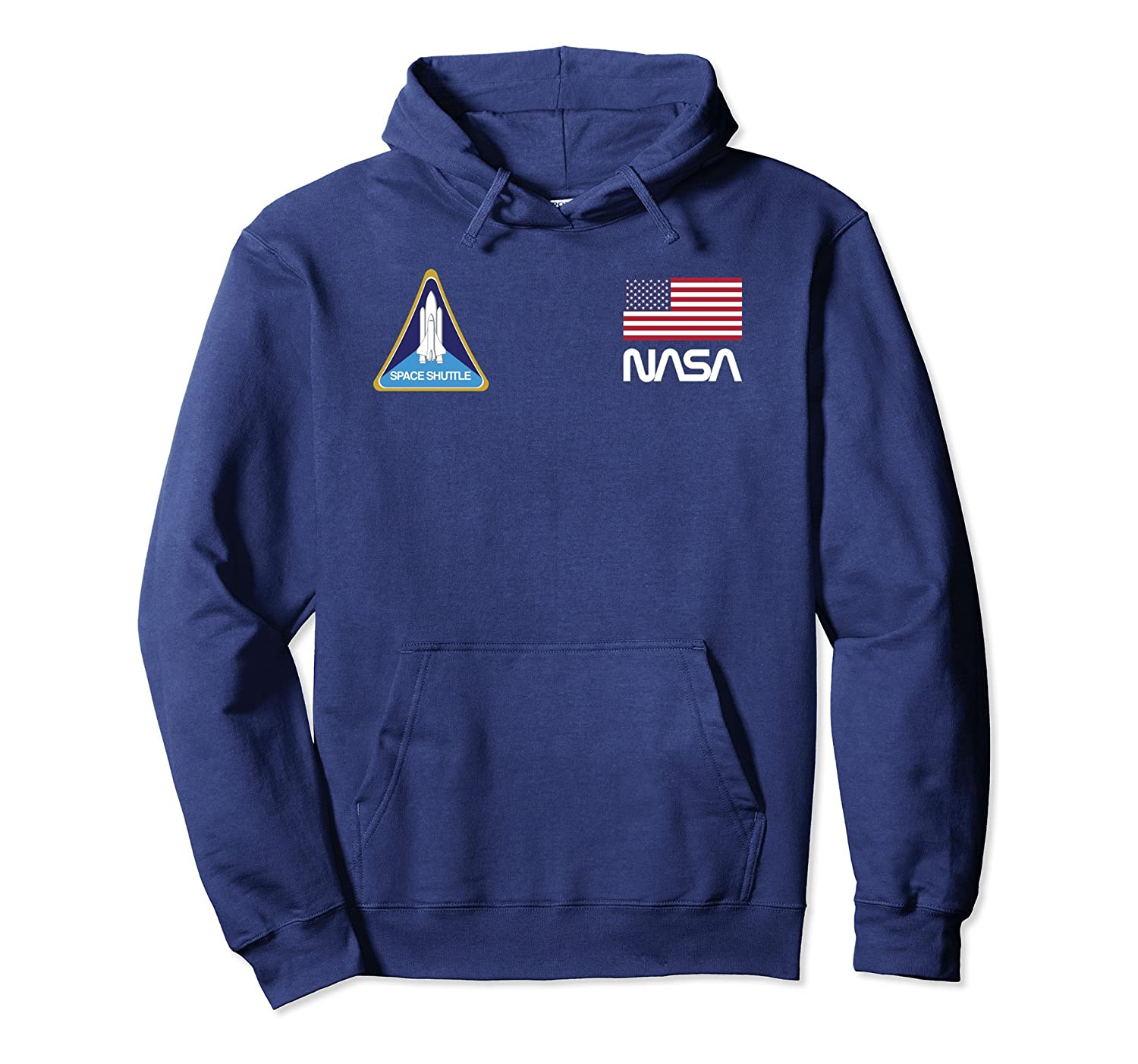 Retro NASA, Space Shuttle, USA Flag Logo Hooded Sweatshirt-ln – Lntee
