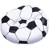 Bestway 75010, Balón de Fútbol Hinchable, 114 x 112 x 66 cm, Blanco y Negro