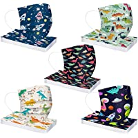 50 Pcs Kids Disposable_Face_Masks Children 3 Ply Cartoon Cute Printed Face Cover,Outdoor Dustproof Breathable Mouth…