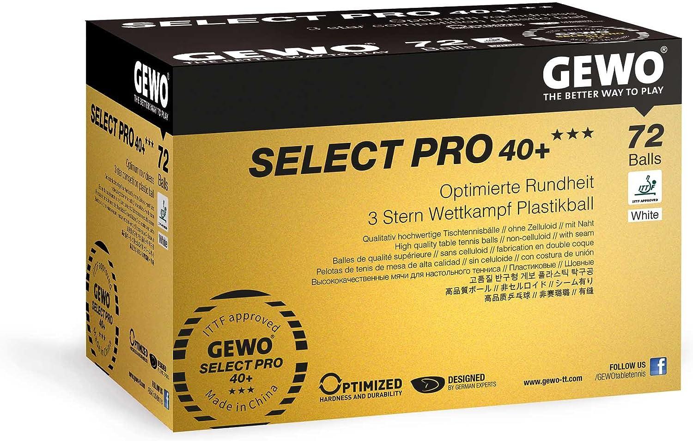 GEWO Ball Select Pro 40+ Pelota de Tenis de Mesa