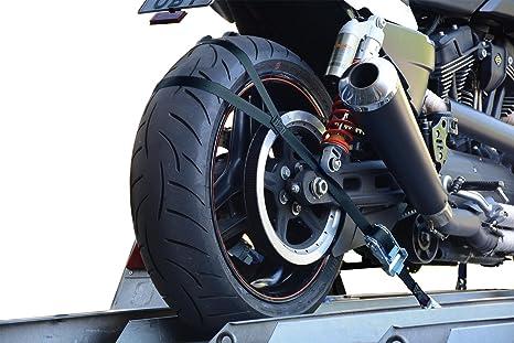 Seguridar para transporte para motocicleta Allsafe, kit de fijación para rueda trasera