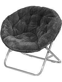Urban Shop Faux Fur Saucer Chair ...