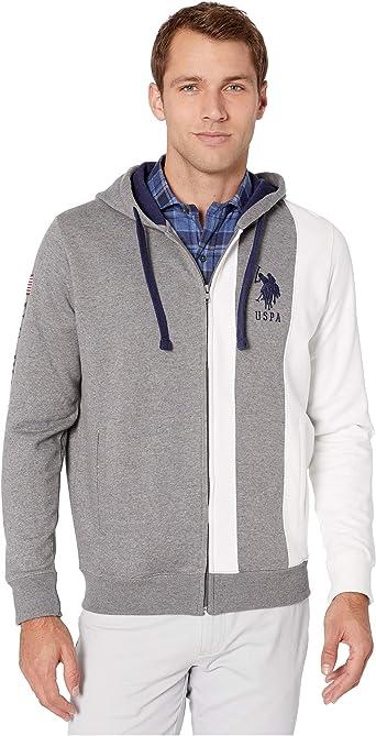 U.S. Polo Assn. Sudadera con capucha para hombre, manga larga ...