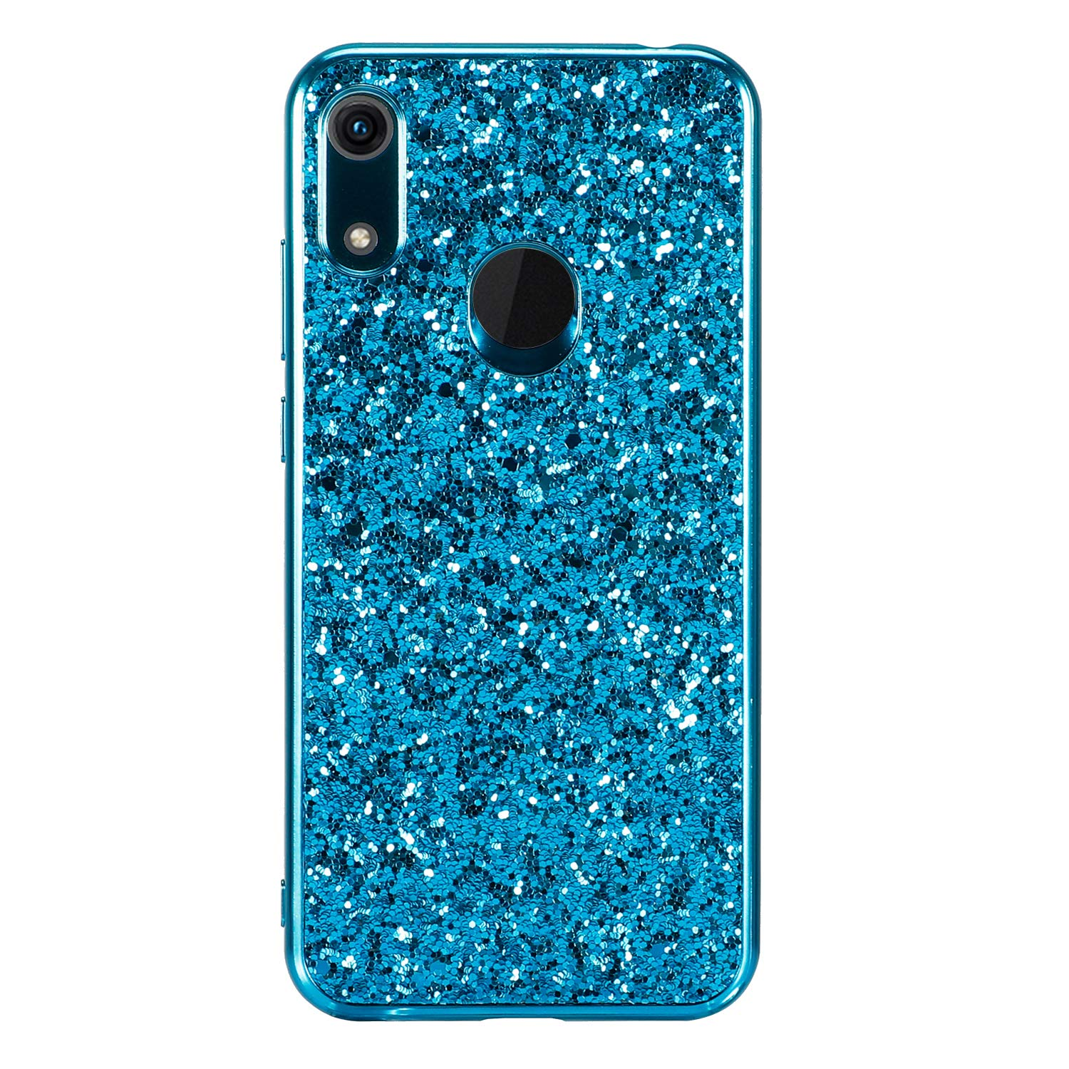 Miagon Glitter Back Case for Huawei Y6 2019,Electroplated Frame Shock Absorption Anti Scratch Shiny Sparkle Silicone Bumper Back Protective Case Cover for Huawei Y6 2019