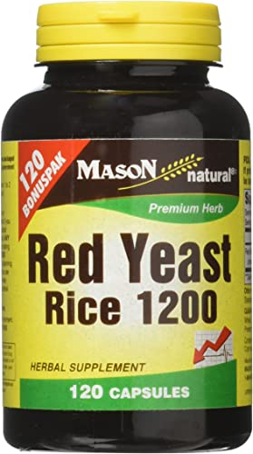 Mason Natural Red Yeast Rice 1200 120 Caps