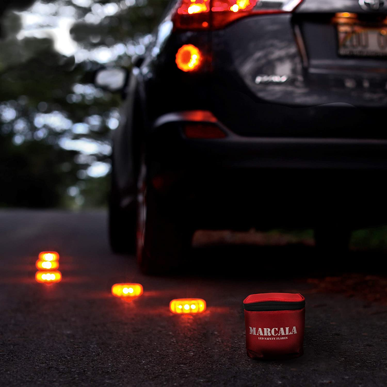 Roadside Emergency Disc MARCALA 2 Sets of 3 Pack LED Road Flare