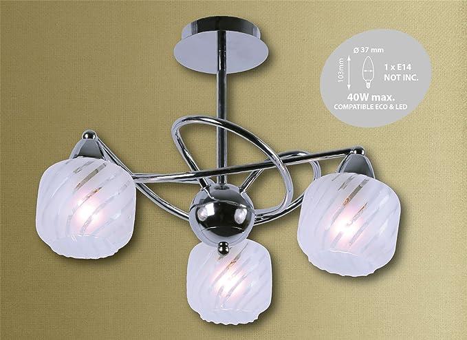 3 way funda lámpara de techo diseño de lámpara de araña ...