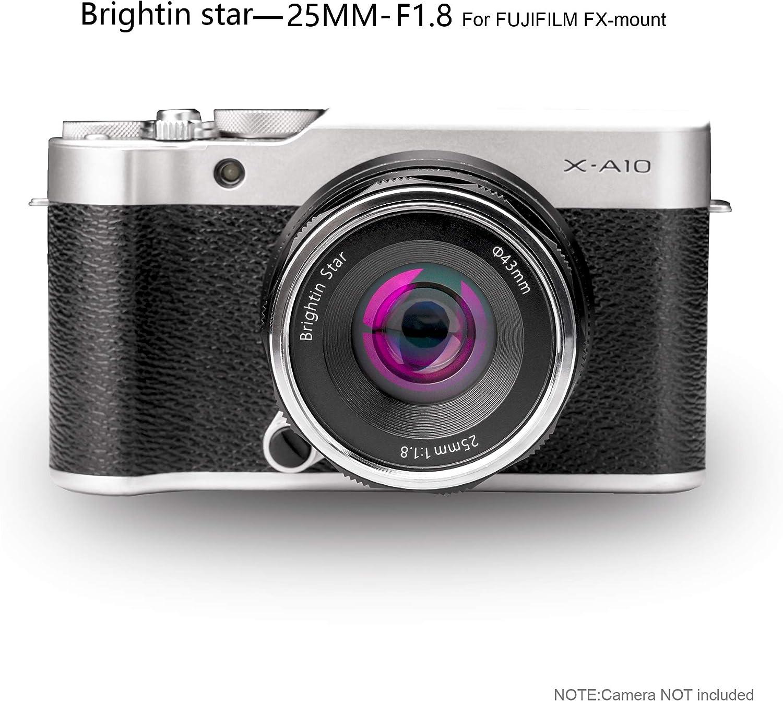 brightin star 25mm F1.8 APS-C Manual Lens mirrorless Cameras Lens Sony