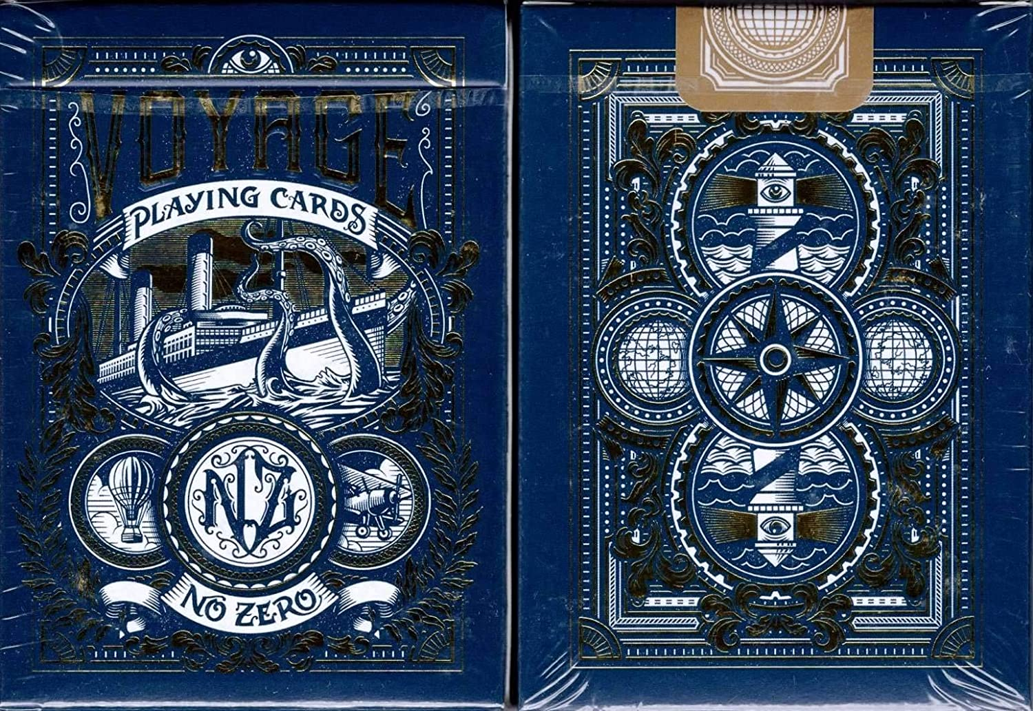 Collectable Playing CardsPoker Deck Blue Voyage