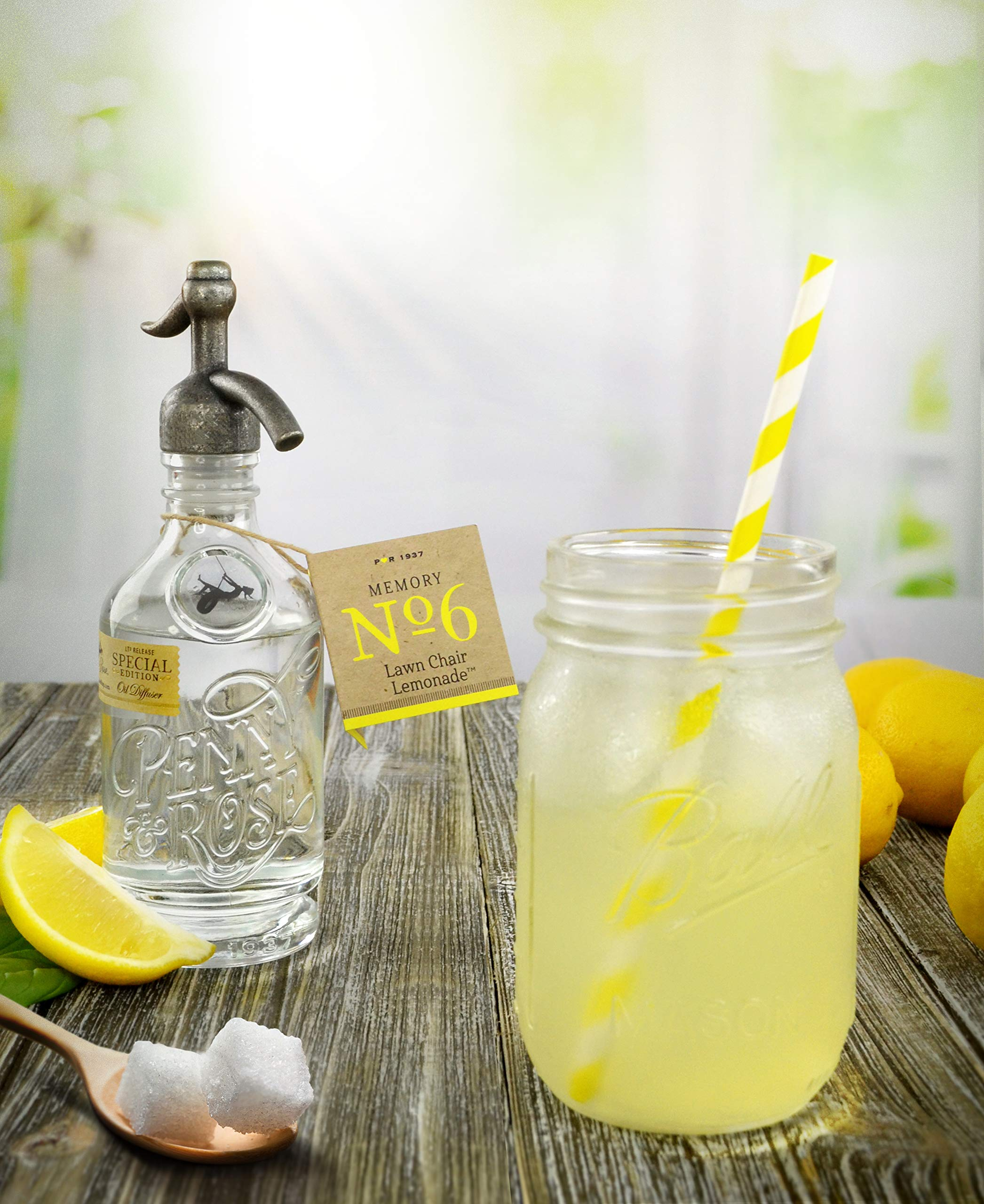 Penny & Rose Sky Rose Diffuser | Lawn Chair Lemonade Oil Scent by PENNY AND ROSE (Image #7)