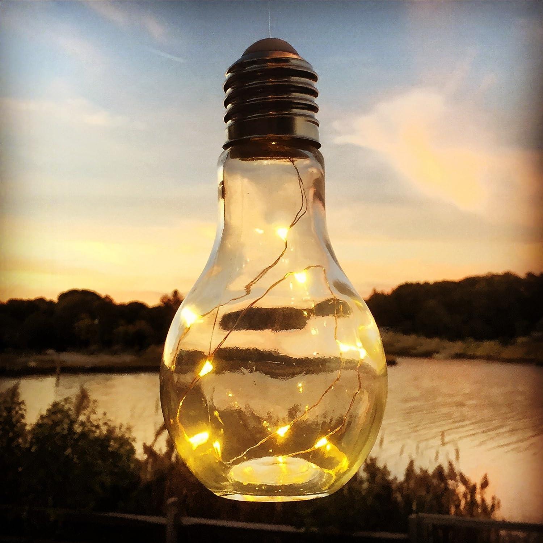 LED Tischleuchte Glühbirne kabellos Höhe 22 cm: Amazon.de: Küche ...