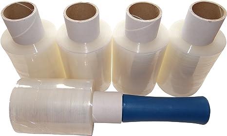 Clear//Transparent Pack of 1 1 100/mm x 150/meter rotoli pellicola elasticizzata e mini pacco pellicola trasparente