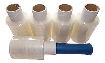 5 rollos de lámina elástica pequeña y un dispensador de mano MultiBros: Amazon.es: Oficina y papelería