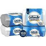 Cottonelle FreshCare Flushable Wipes Refill Tub, 42 Flushable Wet Wipes (Pack of 4)