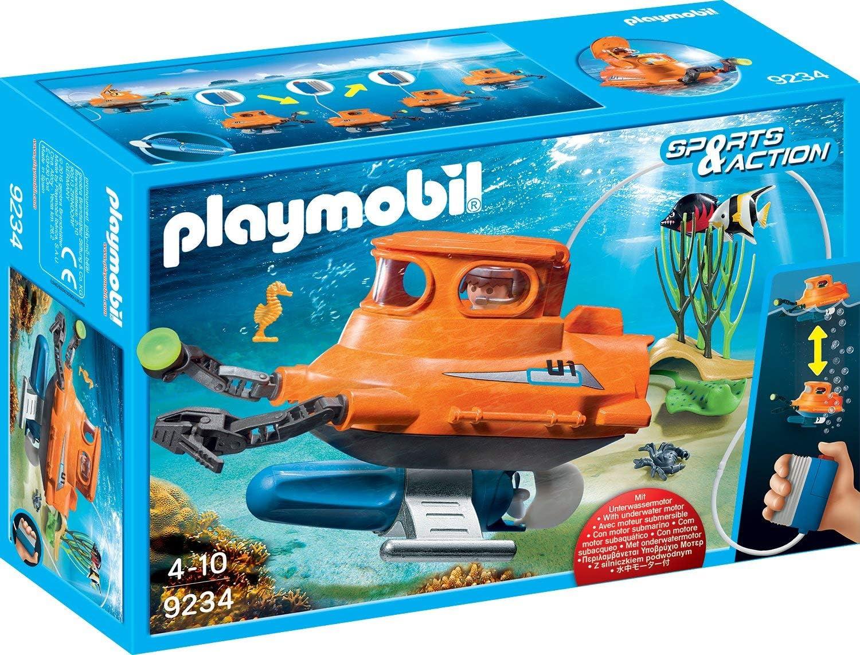 PLAYMOBIL- Submarino con Motor, Multicolor, única (9234): Amazon ...