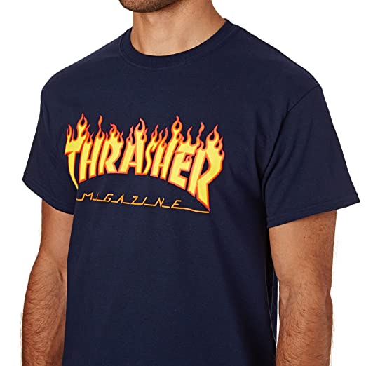 ccaed1a58277 Amazon.com: Thrasher Flame Short Sleeve T-Shirt: Clothing