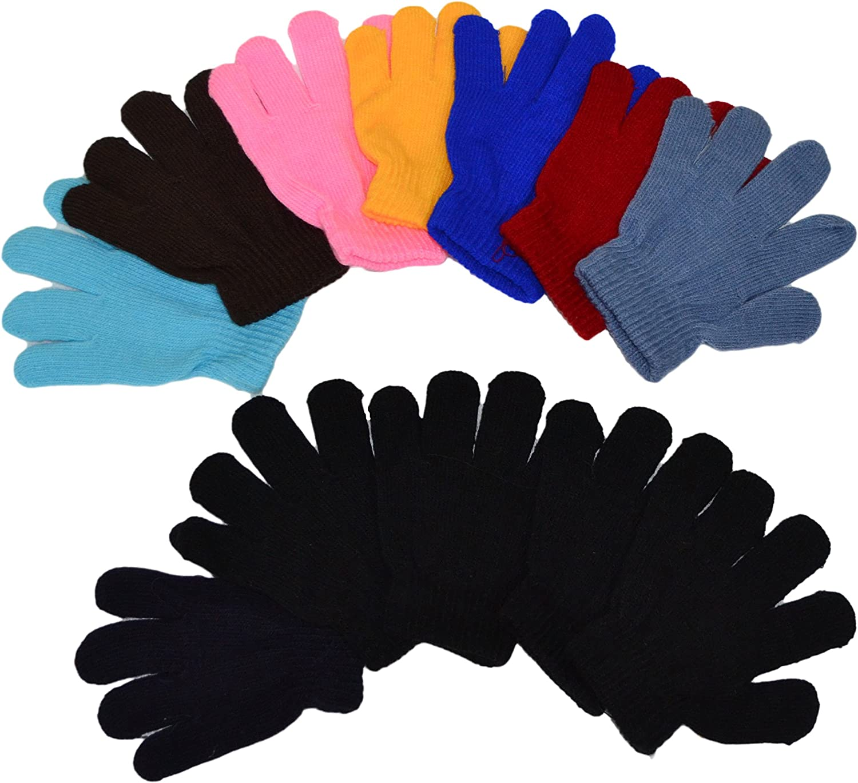 1 to 6 years Kids Boys Girls Magic Gloves Children Knit Gloves Wholesale 12 Pairs OPT Brand