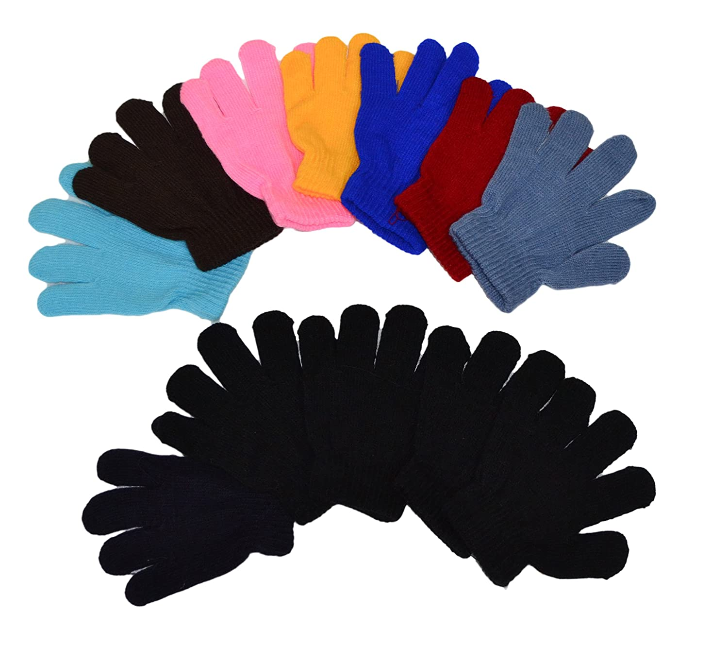 12 pairs of kids mittens