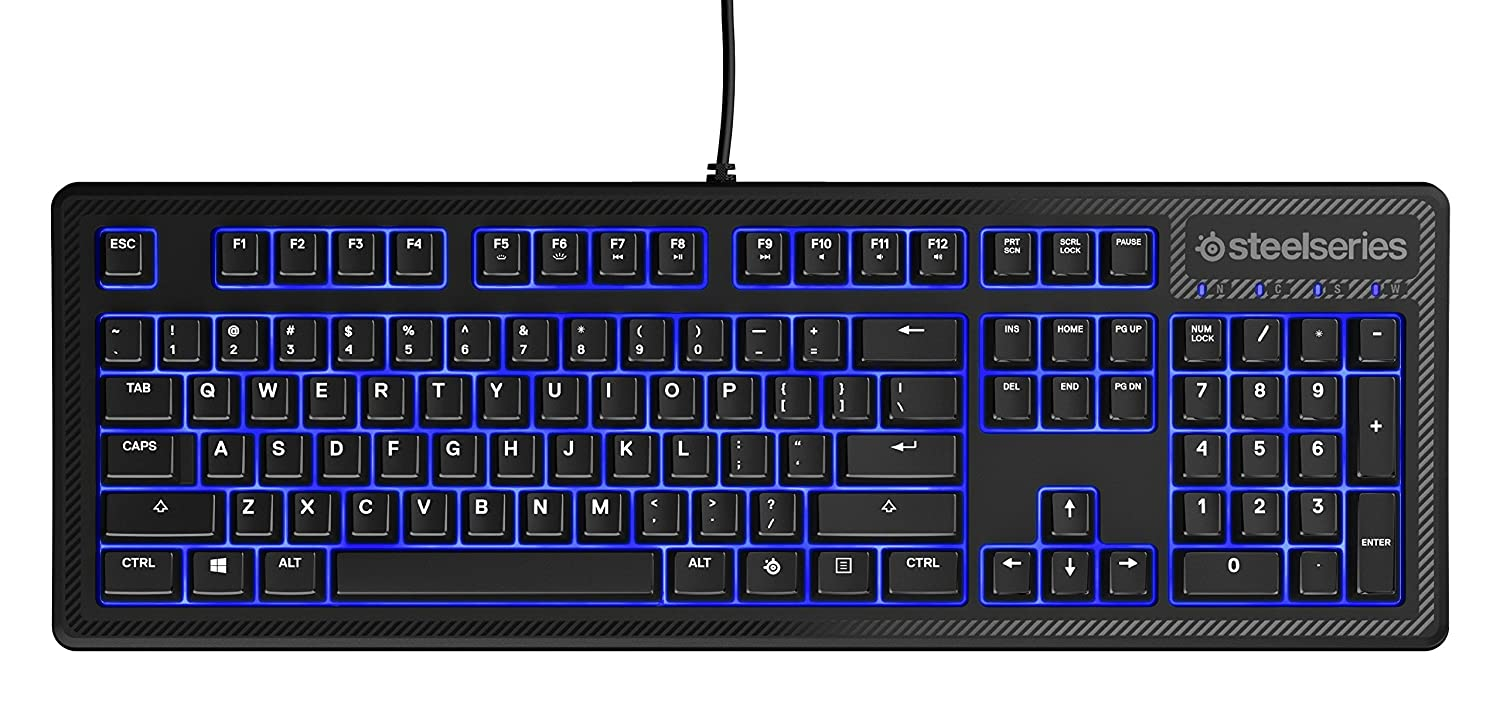 7295698cb2a Amazon.in: Buy SteelSeries Apex 100 Gaming Keyboard with Blue LED Backlit  Online at Low Prices in India | SteelSeries Reviews & Ratings
