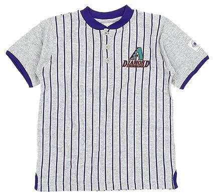 1bb8fdbb0 Image Unavailable. Image not available for. Color: Mighty Mac Arizona  Diamondbacks MLB Big Boys Youth Retro Striped Henley Shirt ...
