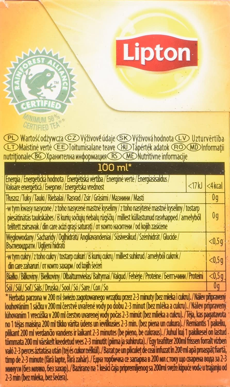 Amazon.com : Lipton Black Tea - Lemon - Premium Pyramid Tea Bags (20 Count Box) [PACK OF 3] : Grocery & Gourmet Food