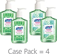 PURELL Advanced Hand Sanitizer Soothing Gel for the workplace, Fresh scent, with Aloe and Vitamin E - 8 fl oz pump bottle (Pa