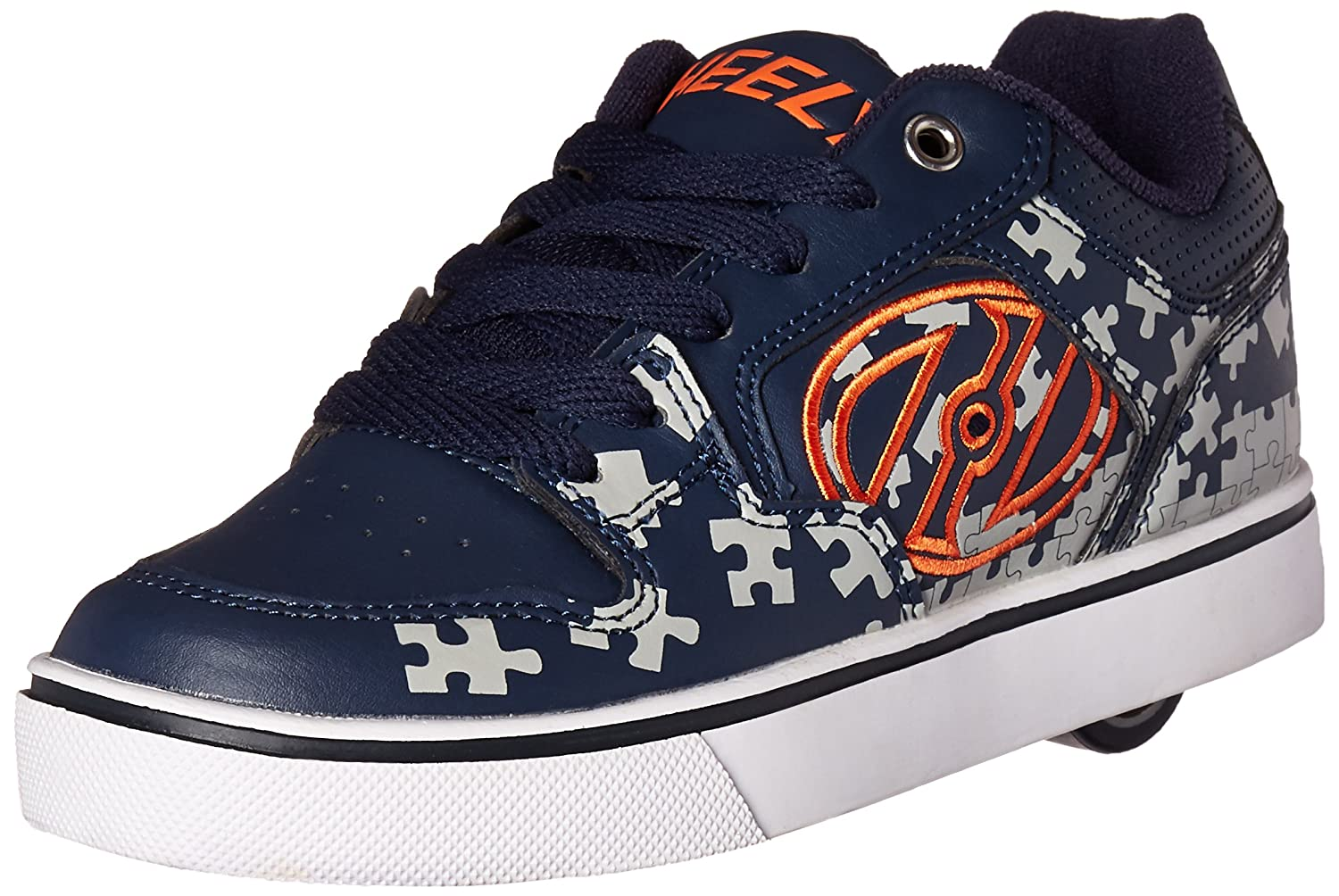 Heelys Motion Plus Zapatillas para niños color Red Black Grey Skulls talla