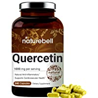 NatureBell Quercetin 1000mg Per Serving, 240 Capsules, Super Immune Vitamins and Quercetin Vitamins, Powerfully Supports Cardiovascular Health, Immune System and Bioflavonoids for Cellular Function