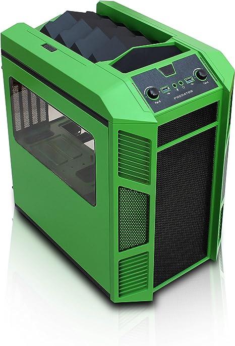 rexgear Mini-ITX y Micro ATX PC Cubo casos verde: Amazon.es: Electrónica