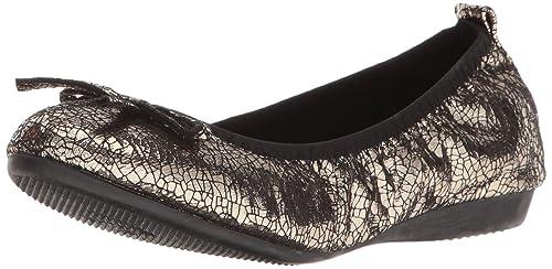Bernie Mev Women's Curlies Bow Flat, Pewter Metallic, 36 EU/5.5-6