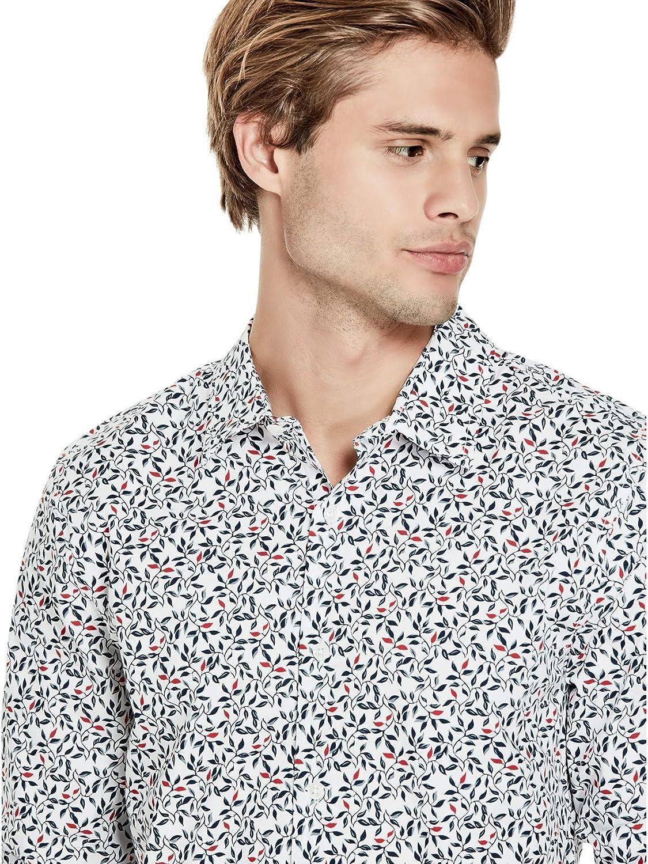 GUESS Factory Mens Pratt Leaf-Print Shirt